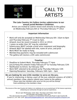 Call to Artists Members Exhibition 2013